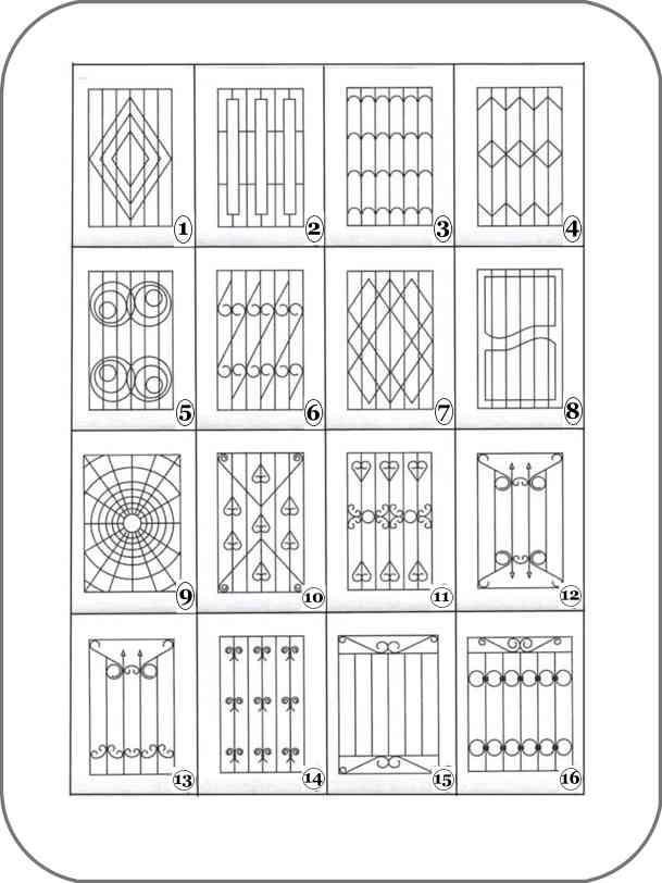 эскизы оконных решеток: